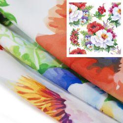 Tkanina STRECZ PANAMA D404-102 Kwiaty