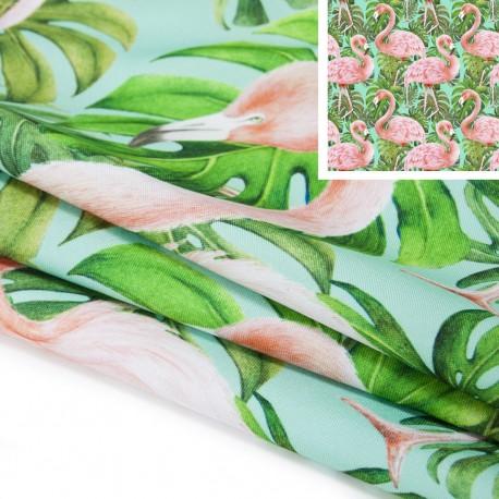 Tkanina STRECZ PANAMA D404-101-01 Flamingi