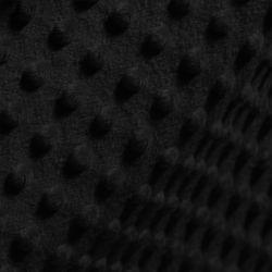 Tkanina MINKY z tłoczonymi kropkami 366-34 czarny