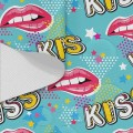 Tkanina wodoodporna OXFORD D434-196-01 KISS Usta Pop Art