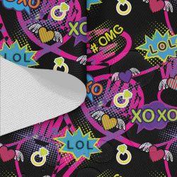 Tkanina wodoodporna OXFORD D434-201-01 XoXo Pop Art róż