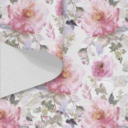 Tkanina wodoodporna OXFORD D434-173-01 Kwiaty Akwarele