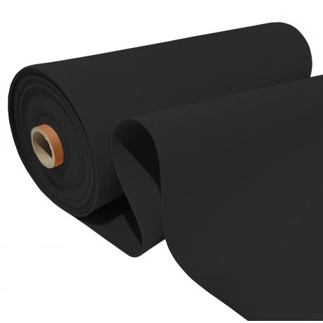 FILC surowy 150 cm - Miękka włóknina filcowa 300 GSM 781-34 czarny