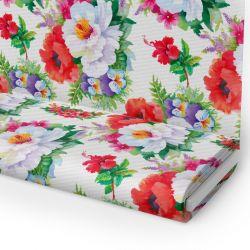 Tkanina STRECZ PANAMA D404-102-01 Kwiaty