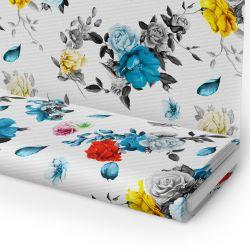 Tkanina STRECZ PANAMA D404-160 Rozsypane kwiaty