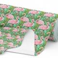 Tkanina wodoodporna OXFORD D434-101-01 Flamingi