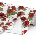 Tkanina wodoodporna OXFORD D434-116 Czerwone Kwiaty