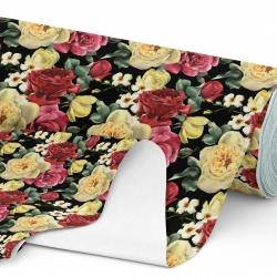 Tkanina wodoodporna OXFORD D434-124 Róże w Kwiatach Czereśni