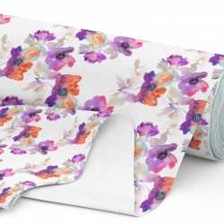 Tkanina wodoodporna OXFORD D434-169-01 Kwiaty akwarele