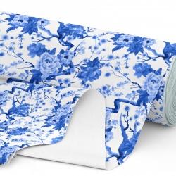 Tkanina wodoodporna OXFORD D434-178-01 Kwiaty niebieskie