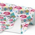 Tkanina wodoodporna OXFORD D434-196-02 KISS Usta Pop Art