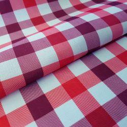 Tkanina obrusowa PICNIC 439-01 biało-czerwony