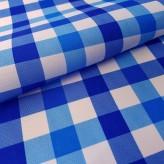 Tkanina obrusowa PICNIC 439-02 biało-niebieski