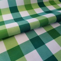 Tkanina obrusowa PICNIC 439-03 biało-zielony