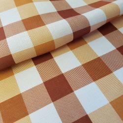Tkanina obrusowa PICNIC 439-04 biało-pomarańczowo-rudy