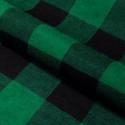 Tkanina FLANELA KRATA 437 zielono-czarna