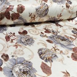 Tkanina zasłonowa Blackout Kwiaty Bling 280 857-03