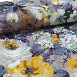 Tkanina zasłonowa Blackout Malowane Kwiaty 280 859-01
