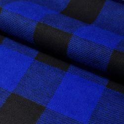 Tkanina FLANELA KRATA 437 niebiesko-czarna