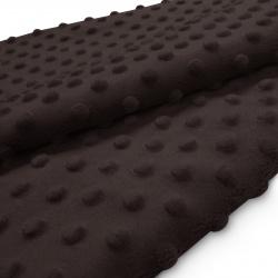 Tkanina MINKY z tłoczonymi kropkami 350g 795-24-29 brąz