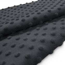 Tkanina MINKY z tłoczonymi kropkami 350g 795-41-94 grafit