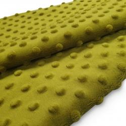 Tkanina MINKY z tłoczonymi kropkami 350g 795-38-23 oliwka