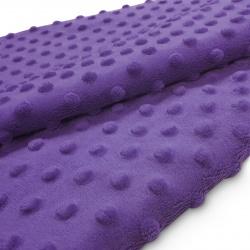 Tkanina MINKY z tłoczonymi kropkami 350g 795-09-89 fiolet ciemny