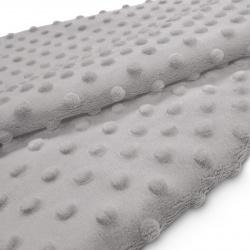 Tkanina MINKY z tłoczonymi kropkami 350g 795-21-31 szary jasny