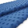 Tkanina MINKY z tłoczonymi kropkami 350g 795-13-90 niebieski ciemny
