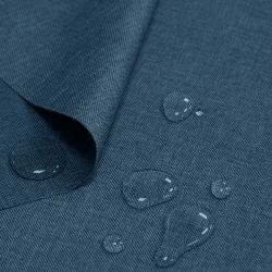 Tkanina wodoodporna LEN IMITACJA 184-06-90 niebieski