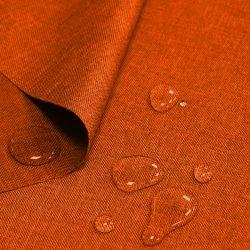 Tkanina wodoodporna LEN IMITACJA 184-09-06 pomarańcz