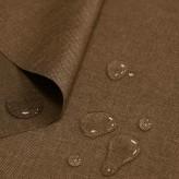 Tkanina wodoodporna LEN IMITACJA 184-37-28 brąz jasny